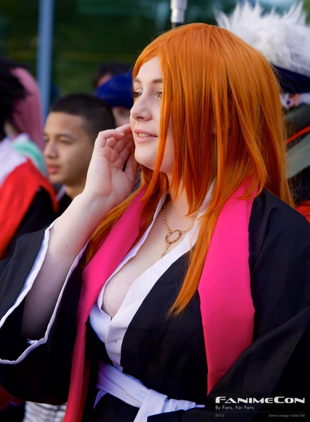 Orange hair w pink and black by Greg Edwards