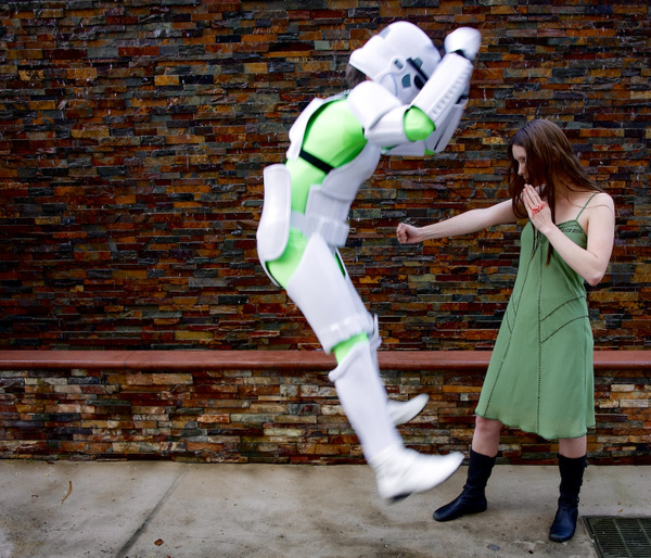 River punching a Storm Trooper 2 copy by Greg Edwards