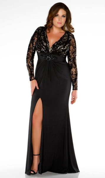 2013-51 black lace plus size evening dresses by Darius...