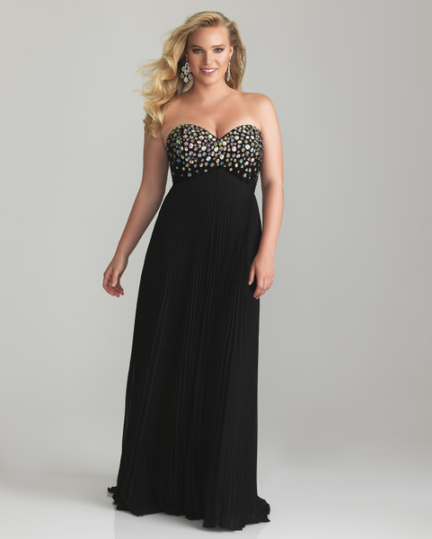 2013-E40 strapless plus size evening gowns by Darius...