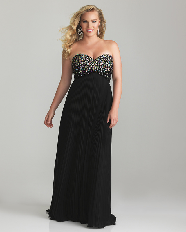 2013-E40 strapless plus size evening gowns