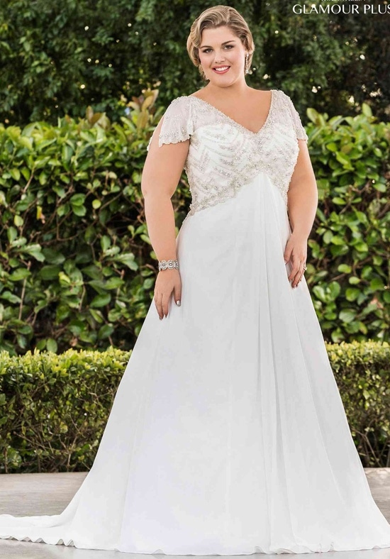5744 Plus Size Bridal Gowns with Empire Waist - Darius...