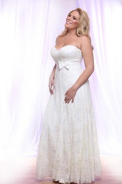 Style #PS144 - 1500 - Gnetle Lace Wedding Dress for Plus Size Brides