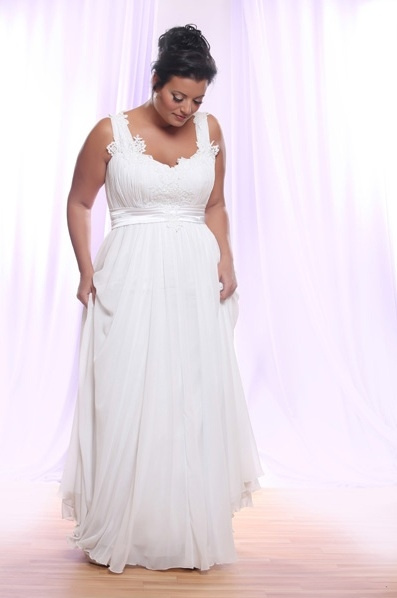 Style #PS145 - 1500 - Belted Empire Waist Plus Size...