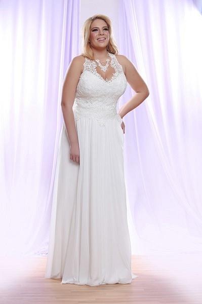 Style #PS1410 - 1550 - Halter Plus Size Wedding Dress...