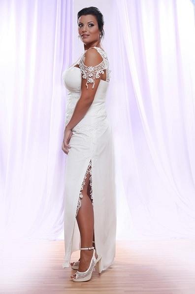 Style #PS1411 - 1750 - Cap Sleeve Lace Plus Size Wedding...