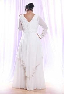Style #PS1416 - back of Sheer Chiffon Long Sleeve...