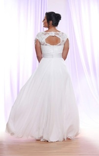 Style #PS1417 - 2150 - back of Silk Tulle Plus Size...