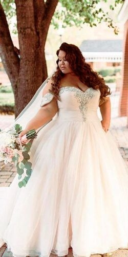 Strapless a-line plus size wedding gowns from Darius...