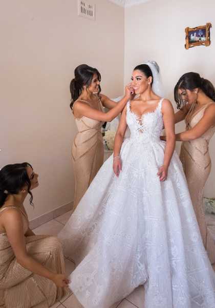 Sleeveless plus size couture bridal gown from Darius USA...