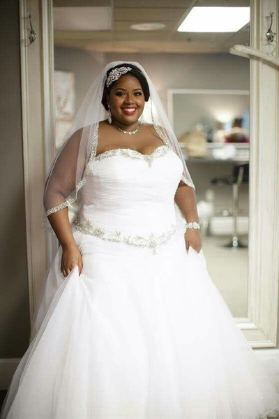 A-line style plus size wedding dresses from Darius...