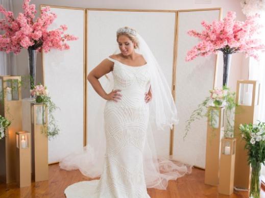 Beaded plus size wedding dresses from Darius Customs