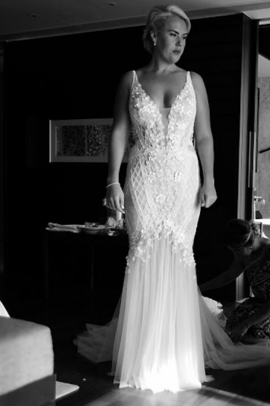 Sleeveless couture plus size bridal gowns from Darius Couture