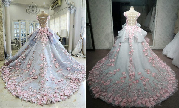 Pink-Ball-Gown-Replica-wedding-dress-from-Darius-Cordell...