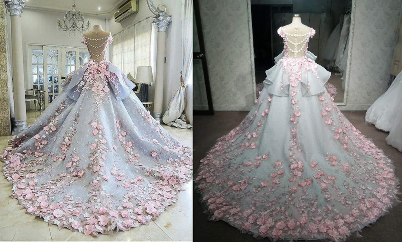 Pink-Ball-Gown-Replica-wedding-dress-from-Darius-Cordell