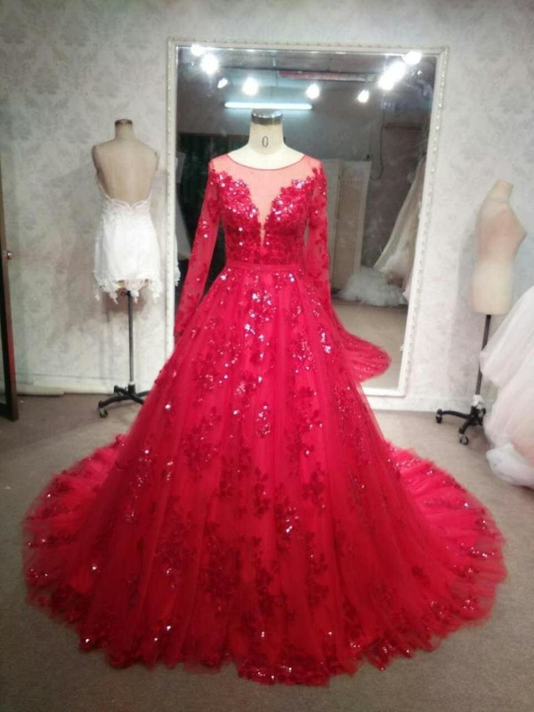 97213-1-Long-Sleeve-Red-Wedding-Gowns-Darius-Cordell