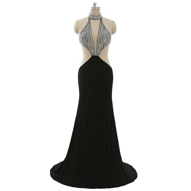 Sexy Black Halter Evening Gowns from Darius Designs