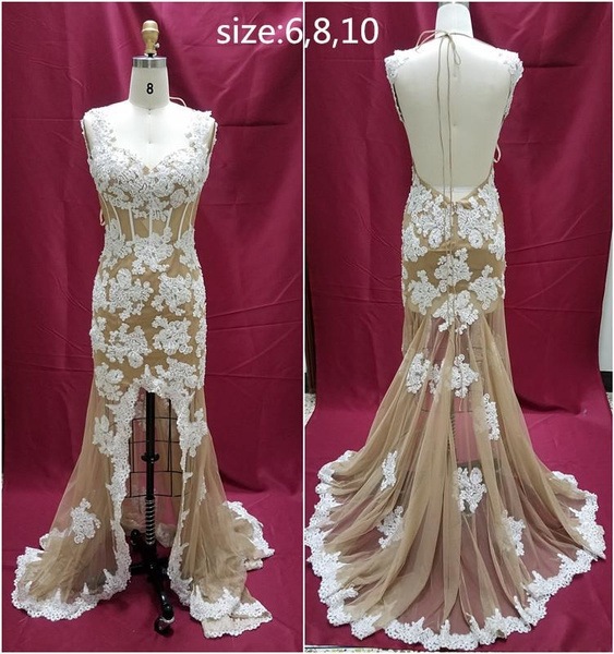 Elegant Lace Evening Dresses for prom or pageant by...