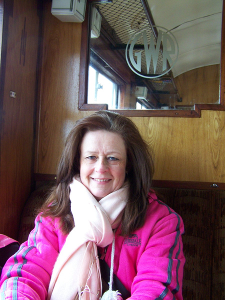 Joanna onboard the 1052 Totnes to Buckfastleigh 30-03-13...