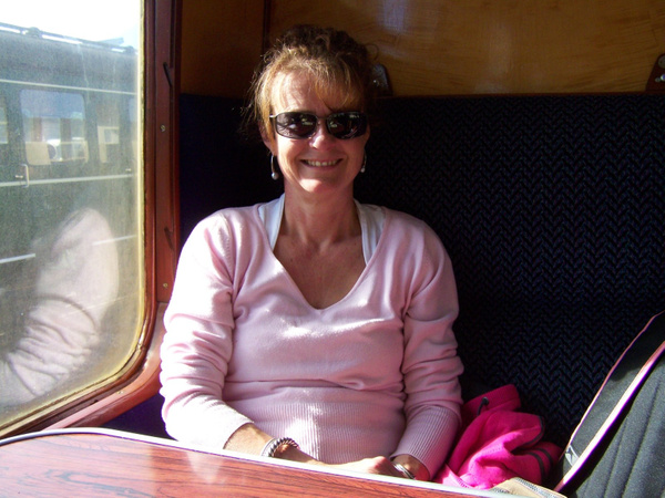 Joanna on board the 1435 to Bishops Lydeard from Minehead 06-10-12 by AlvinKnight