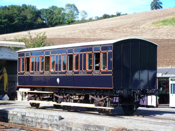 S&D.J.R First class coach number 4 at Washford 06-10-12...