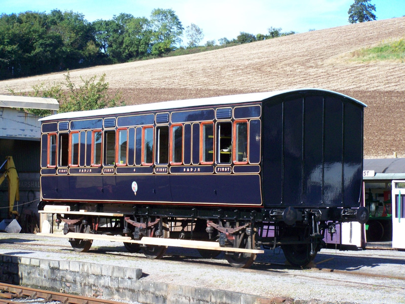 S&D.J.R First class coach number 4 at Washford 06-10-12