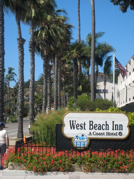 West Beach Inn + flowers by markpw2