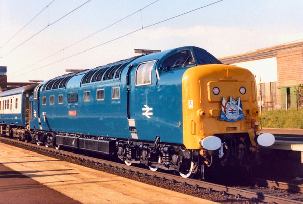 Class 55 Deltic BR era by AlanHC22