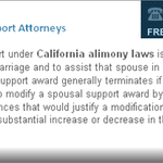 Orange County Spousal Support Attorney