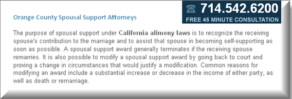 Orange County Spousal Support Attorney by...