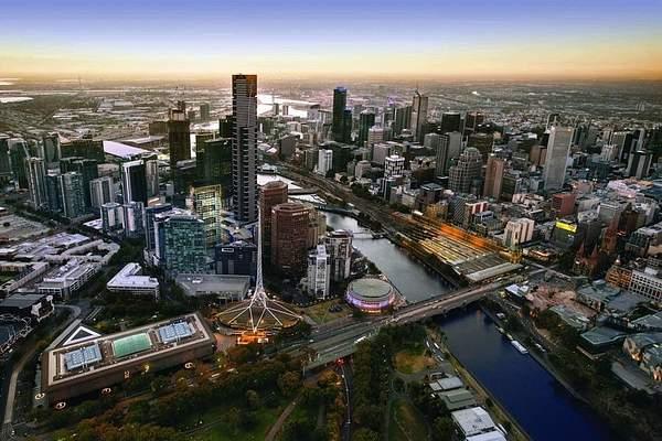Melbourne CBD from Sky Deck 88 1