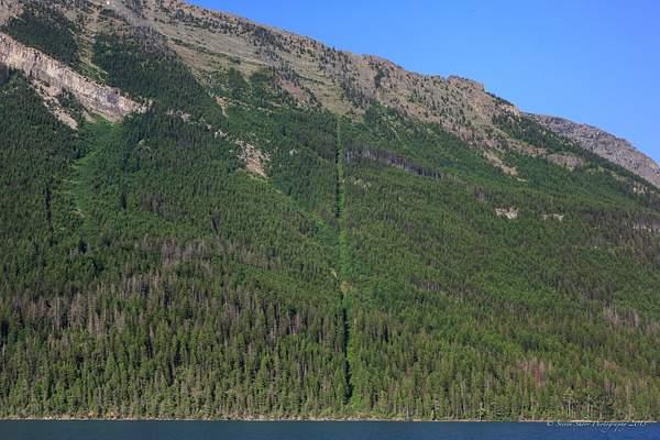 US Canada Border from Waterton Lake