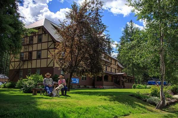 Chillin  at the Izaak Walton Hotel, Montana