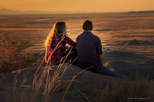 Enjoying A Sunset-1