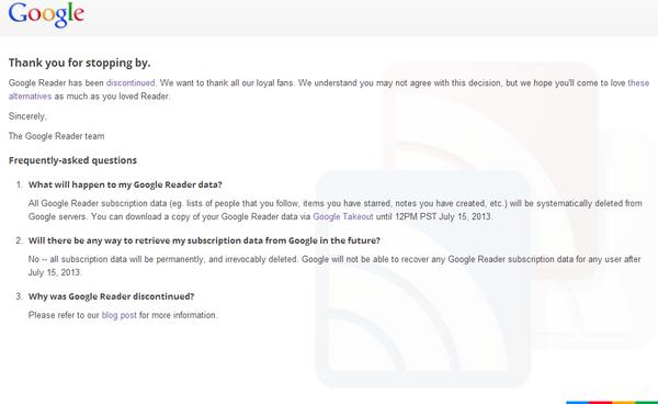 Google Reader's Death by SinaPourasgari