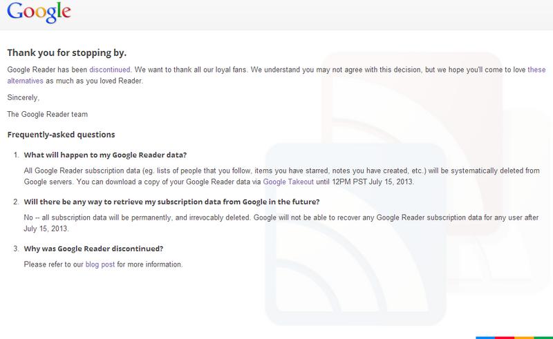 Google Reader's Death