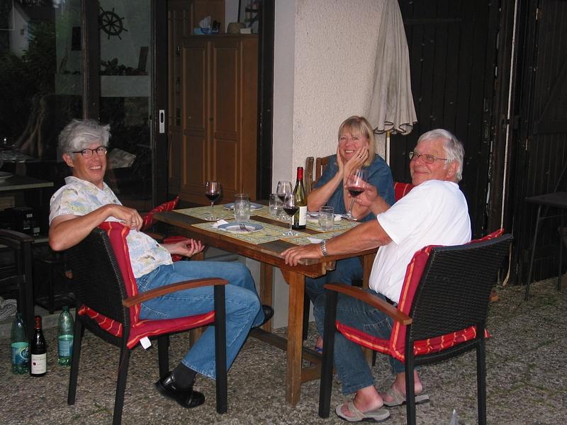 dinner with our next door neighbors
