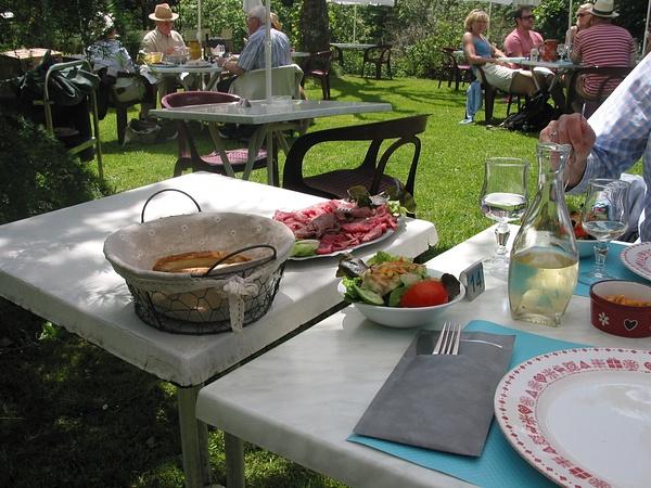 lunch at La Chevrette 1 by Kathyemery