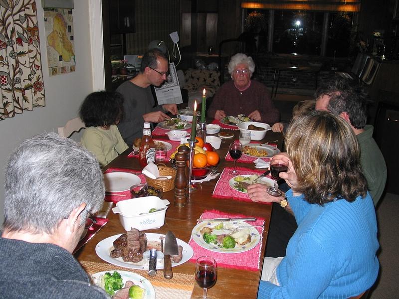 mom's 80th birthday dinner