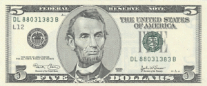 us_5dollar_front by Ric  Lopez