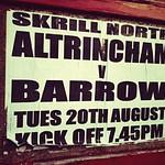 Altrincham 2 v 1 Barrow (20-08-2013)