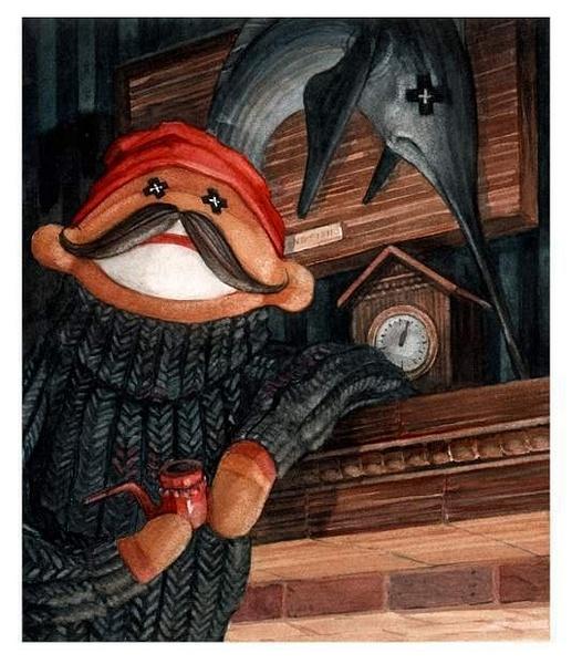 fishfishermonkey by Ingapetrova