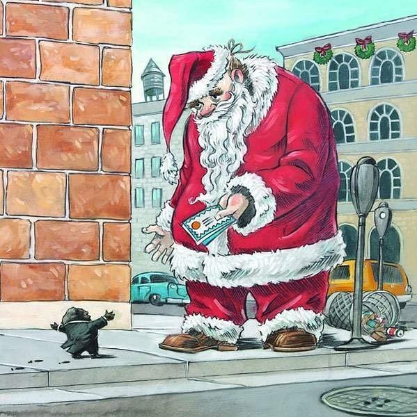 lump-of-coal-and-santa by Ingapetrova