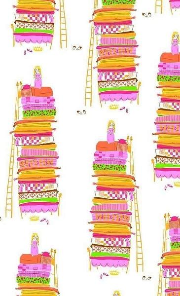 princessandthepeawallpaper by Ingapetrova