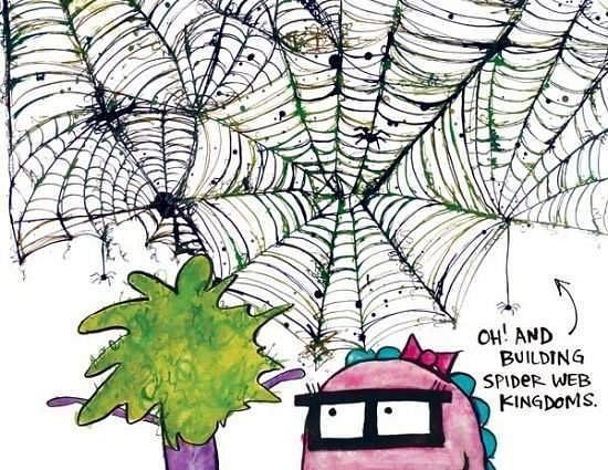 spiderwebs by Ingapetrova