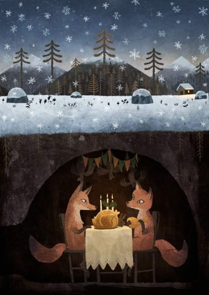 winterfoxes by Ingapetrova