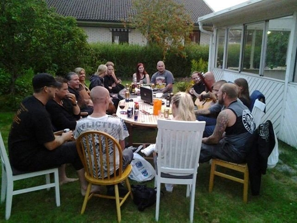 BBQ with some music colleagues from metal bands Revengia and Hoggatah, July 27, 2013 by Bleedforme