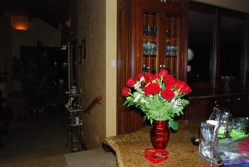 43 year tradition--red roses on her anniversary