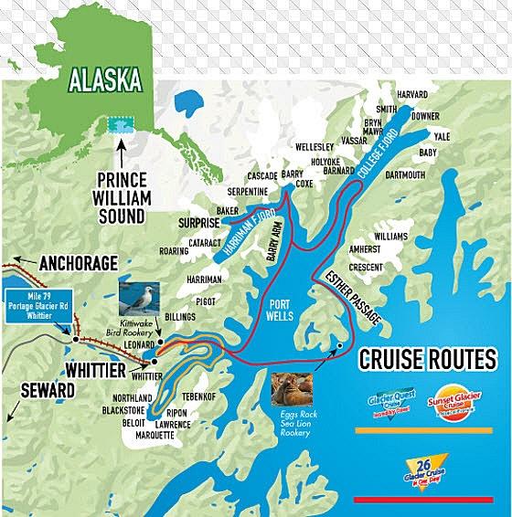 Map of College Fjord by Verryl V Fosnight Jr