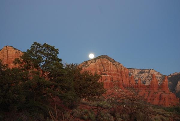 Moon over Sedona  005_101507 by Verryl V Fosnight Jr